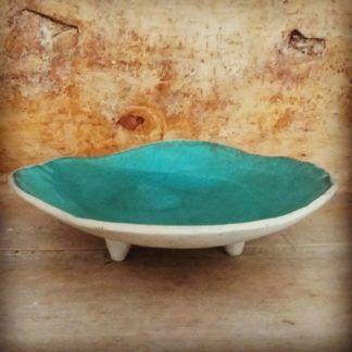 Patera ceramiczna na nóżkach, ceramika, prezent, ręcznie - Artiszok