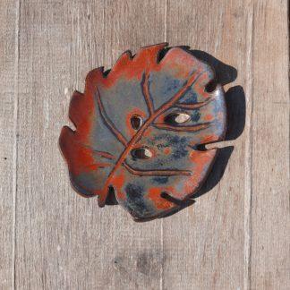 Talerzyk ceramiczny, liść, ceramika, mydelniczka, ręcznie - Artiszok