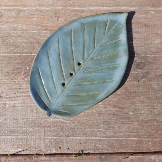 mydelniczka ceramiczna, liść, ceramika, łazienka, ręcznie - Artiszok