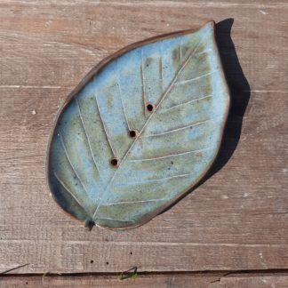 Mydelniczka ceramiczna, liść, ceramika, łazienka, rękodzieło - Artiszok