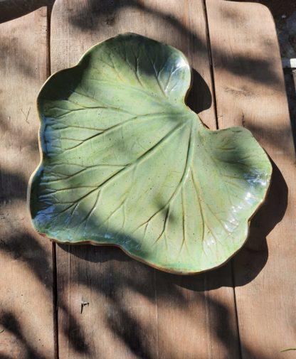 talerz ceramiczny, liść,, prezent, natura - Artiszok