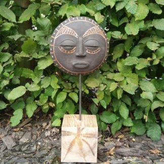 Maska etniczna, ceramiczna, ceramika, afrykańska - Artiszok