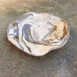 Patera ceramiczna, nóżki, ceramika, falująca, prezent, ręcznie, marmur - Artiszok