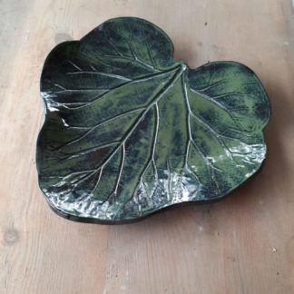 Talerz ceramiczny, liść, ceramika, prezent, dodatek - Artiszok