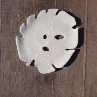 Talerzyk ceramiczny, liść, monstera, mydelniczka, ręcznie - Artiszok
