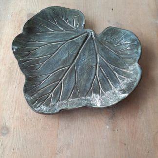 patera ceramiczna, talerz, ceramika, rękodzieło, liść - Artiszok