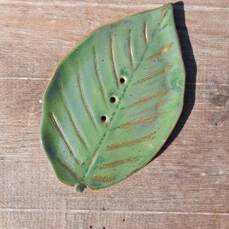 Mydelniczka z ceramiki, liść - Artiszok