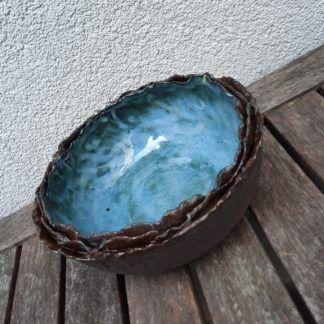 misa ceramiczna, ozdobna, brzegi, prezent, rękodzieło, ręcznie