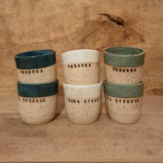Czarki ceramiczne, pobudka, kawa, rękodzieło, kubek - Artiszok