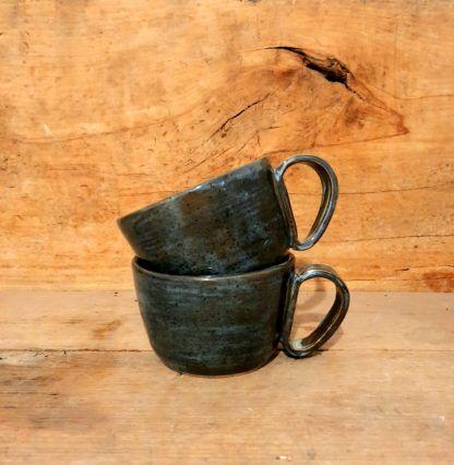 Kubek ceramiczny XL, rękodzieło - Artiszok