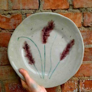 talerz, ceramika, rękodzieło - Artiszok